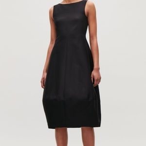 COS Black Cotton Silk Cocoon Dress Size 38/S